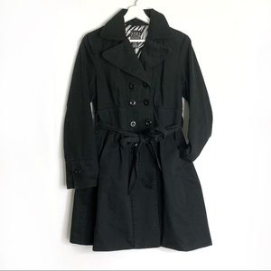 Saks 5th Ave Black Cotton Peacoat